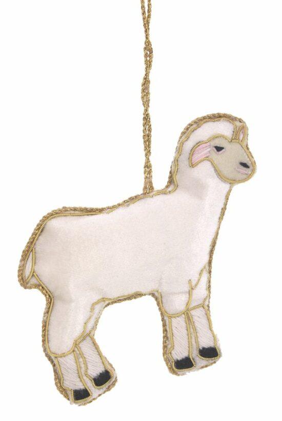 Lammetje ornament hangend