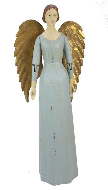 Engel rok antique blauw