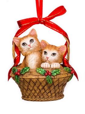 Katjes in mand kerstornament