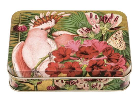 Trommeltje Madame Treacle Kaketoe en bloemen