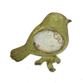 Fotolijstje vogeltje groen