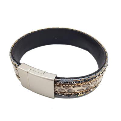 Armband motief slang met kraaltjes