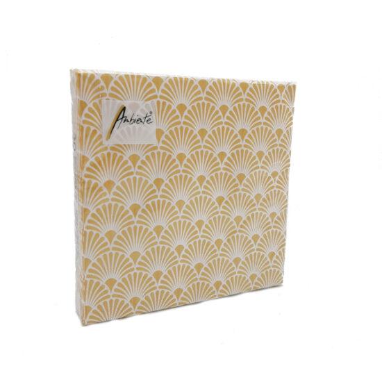 Servetten Art Deco Gold White