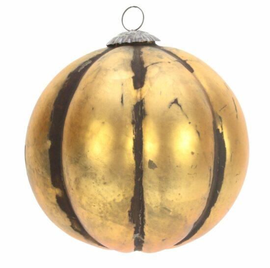 Kerstbal glas antiek goudkleur