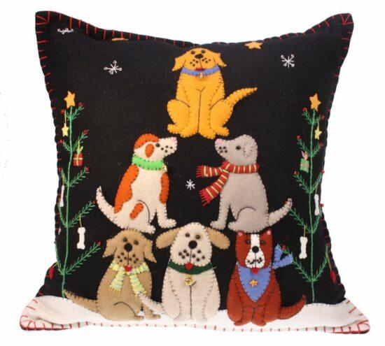 Kussen Honden Kerstboom