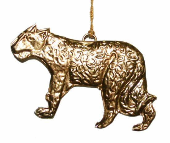 Tijger ornament metaal goudkleurig