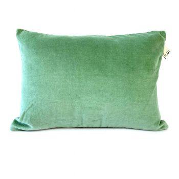 Kussen licht groen velours