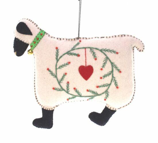 Ornament Schaap met hart