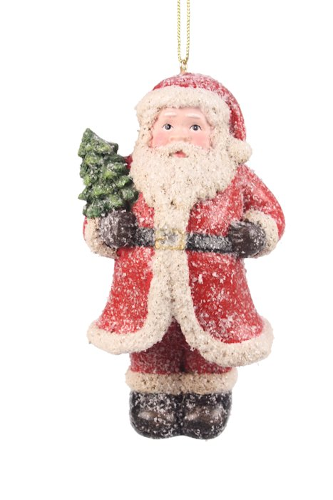 Kerst ornament kerstman met boom