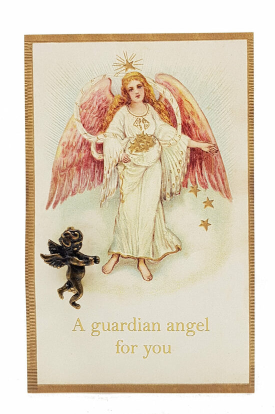 Ansichtkaart a Guardian Angel for you met engel broche