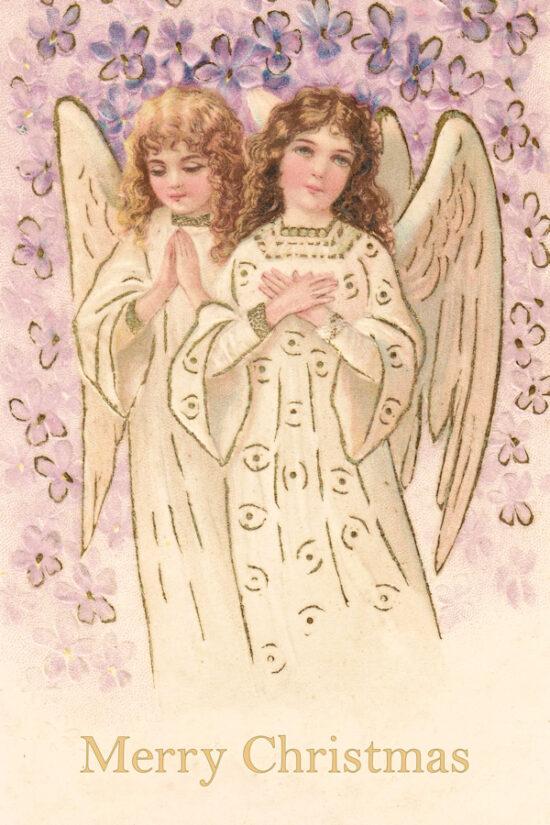 Ansichtkaarten Kerst Engelen Merry Christmas