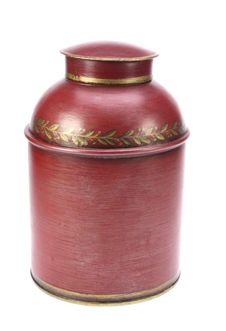 Voorraadbus metaal rood