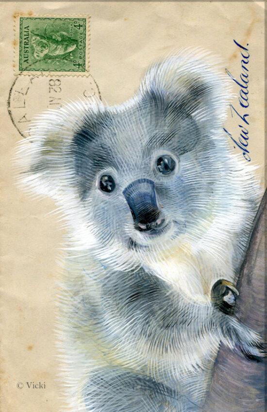 Wenskaart met envelop Koala