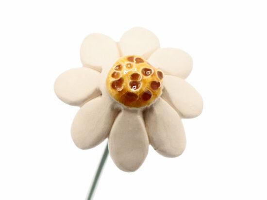Keramische bloem Kamille op prikker