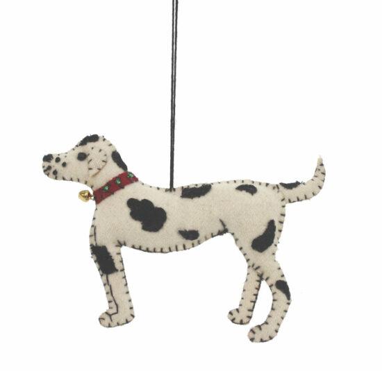 Hond ornament Dalmatiër vilt
