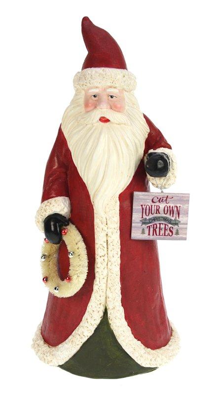 Kerstman rood met krans