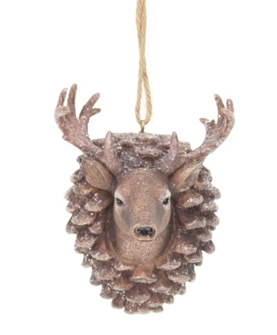 Ornament Hert in dennenappel